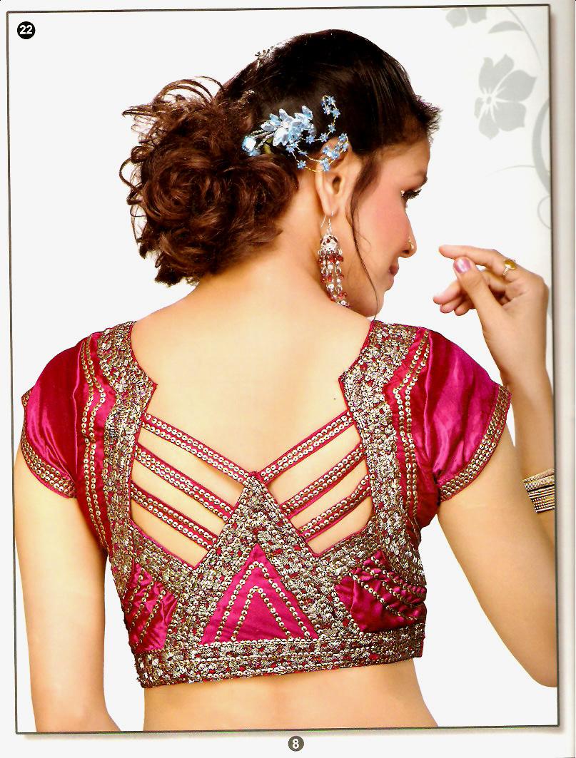 Unique Blouse Designs For Fat Lady - Collar Blouses