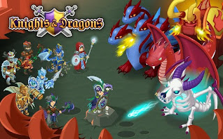 Screenshots of the Knights & Dragons for Android tablet, phone.