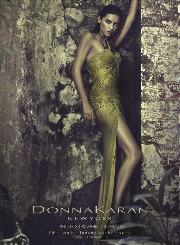 Adriana Lima Hairstyle on Donna Karan Spring 2012 Campaign 1