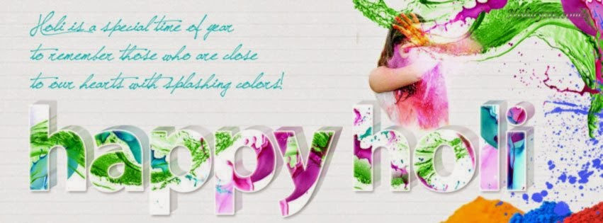 Holi 2014 Facebook Covers Photos