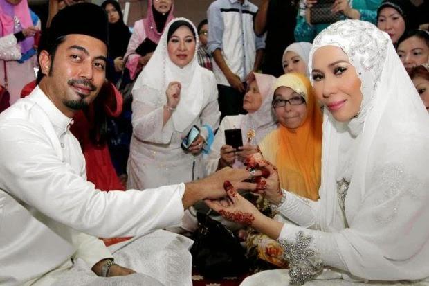 Wan Raja & Yaya Maembong Sah Nikah Dengan Sekali Lafaz, info, terkini, hiburan, sensasi, gambar nikah yaya maembong dan wan raja, pasangan baru nikah,