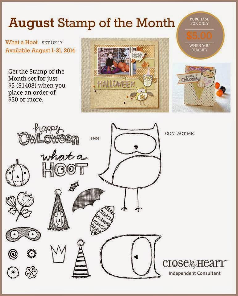 August SOTM CTMH Owls Halloween