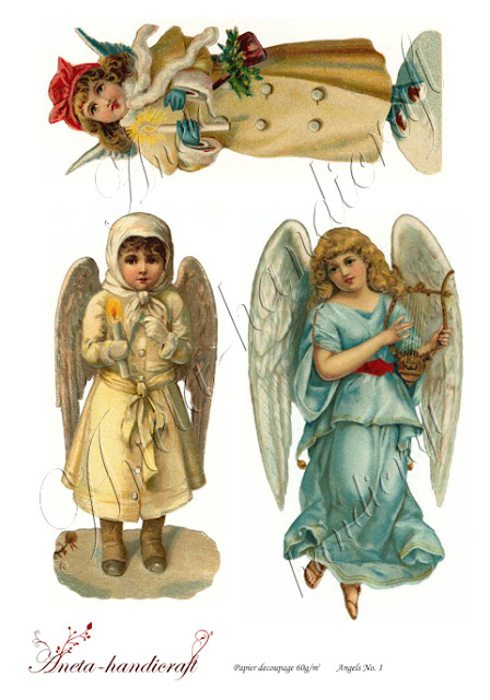 Aneta-handicraft decoupage papers- Angels Collection