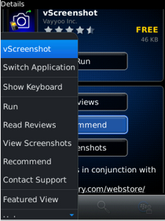 Cara Screen Shot Layar HP BlackBerry