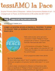 """COME LA NOSTRA SCUOLA ONORA IL PROPRIO """"PLEDGE TO PEACE"""" PER LA GIORNATA INTERNAZIONALE DELLA PACE"""