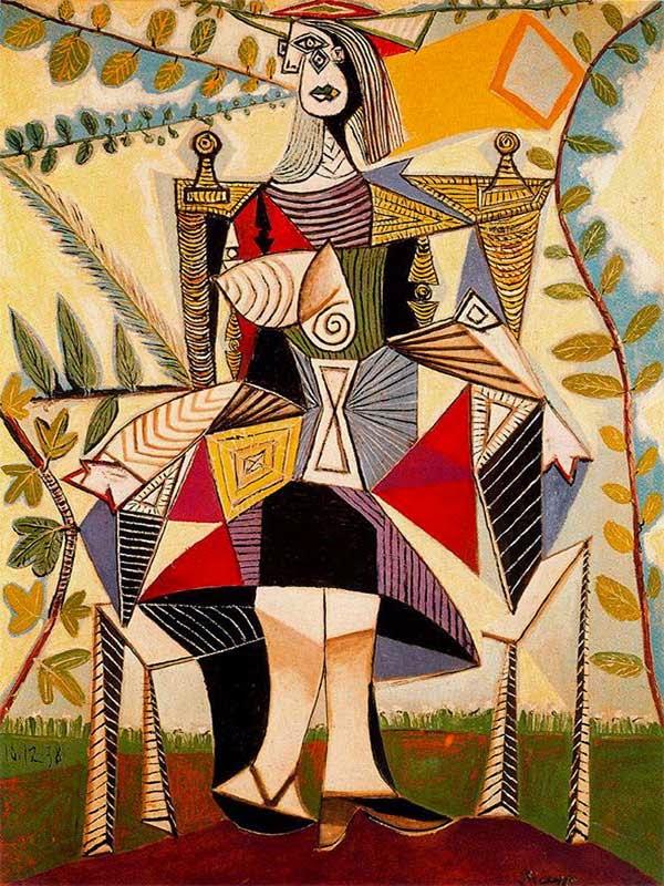 Пабло Пикассо Женщина, сидящая в саду.