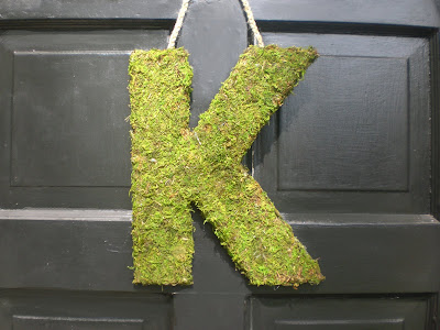Handmade Moss Letter
