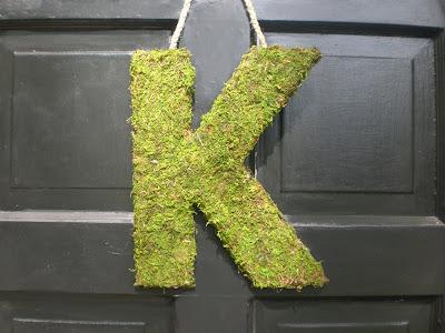 Handmade Moss Letter