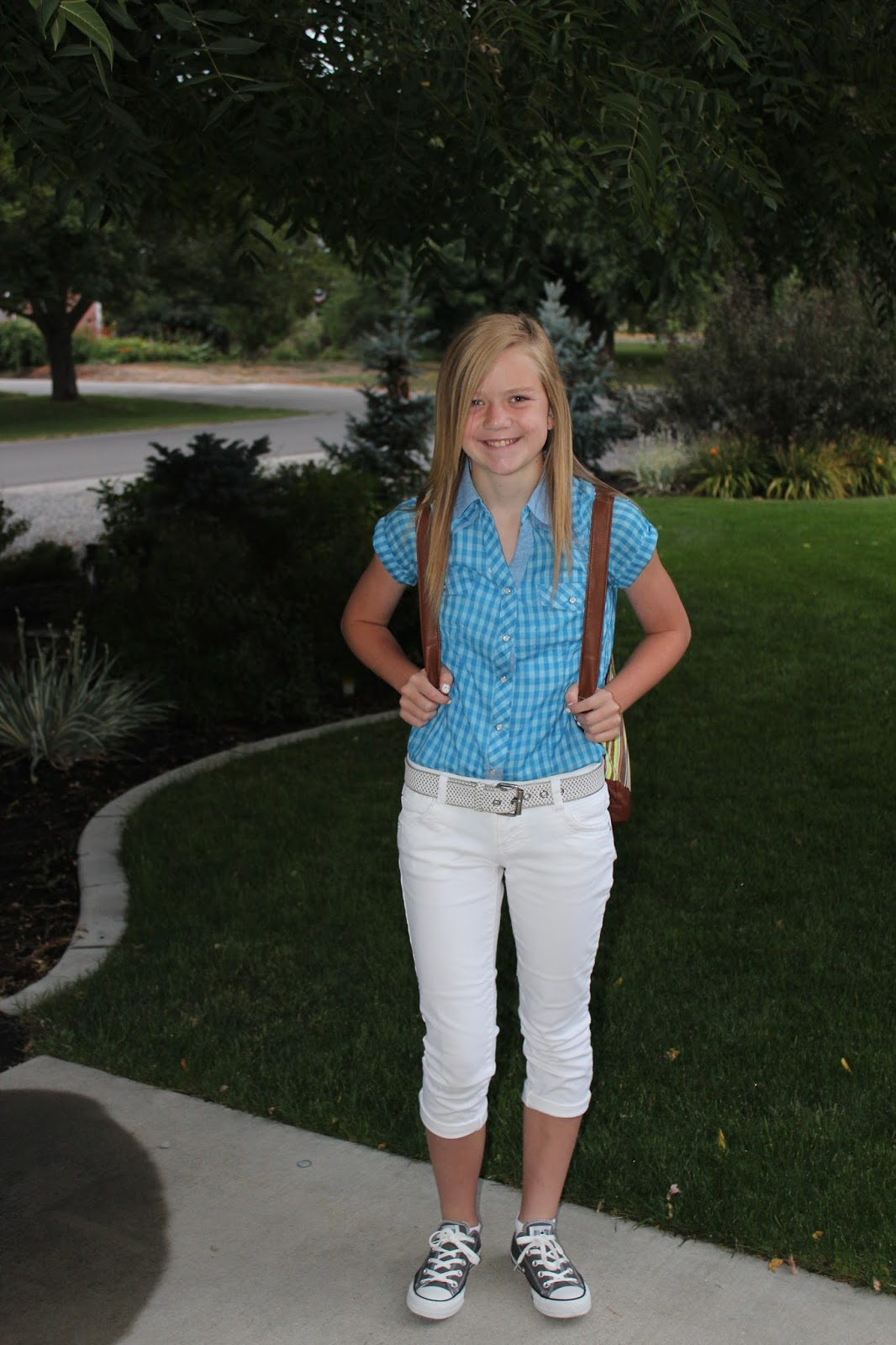 First Day Of School Outfit 8th Grade 2013 Today is her first day of
