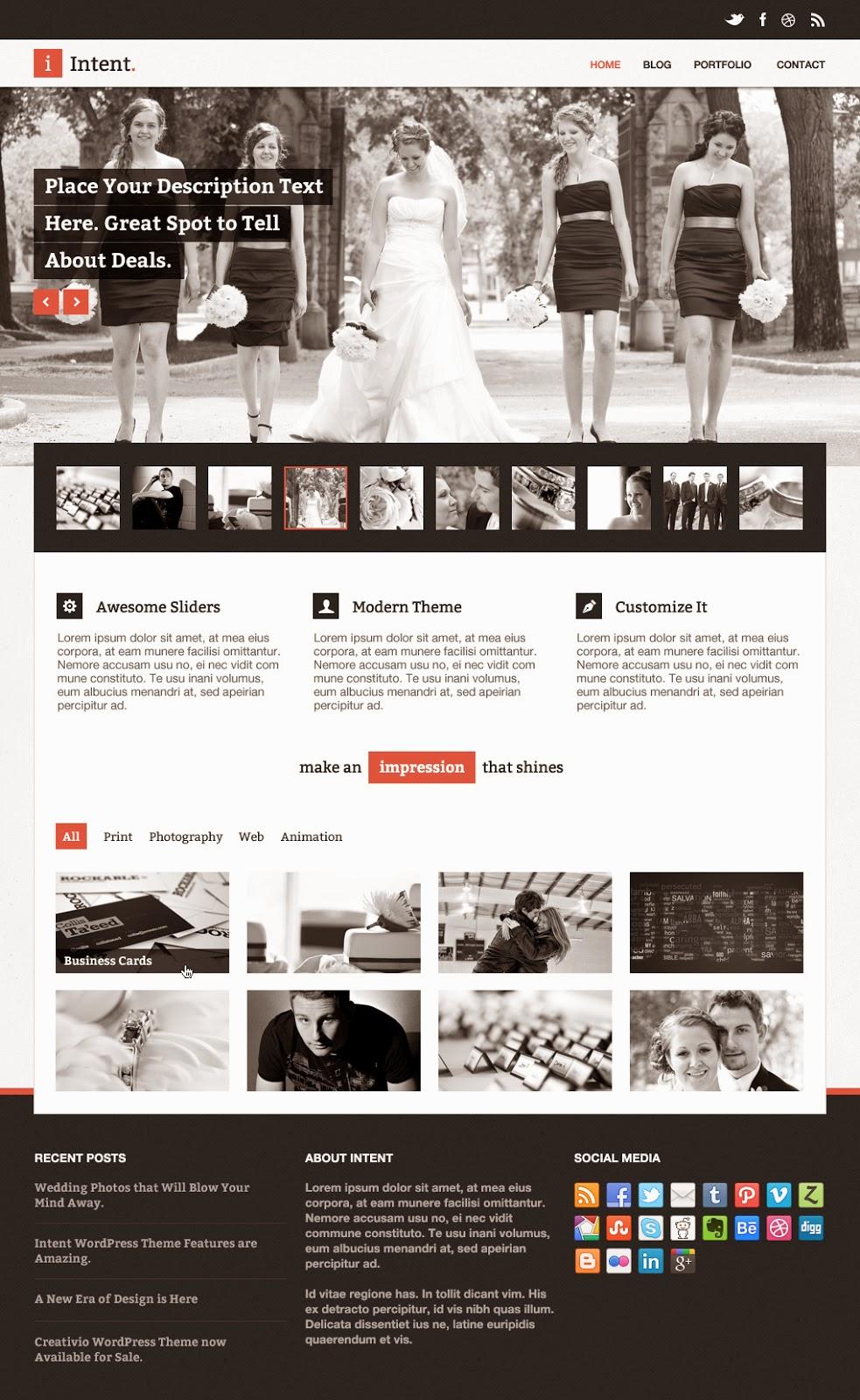Intent PSD Theme Website