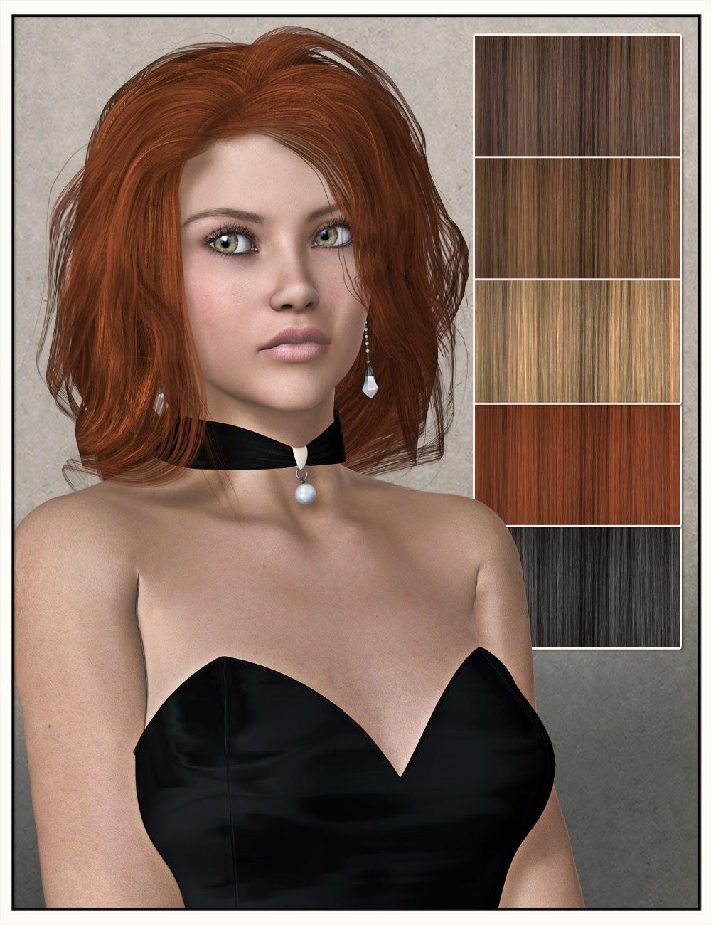 Jena cheveux pour Genesis 2 Femme et Victoria 4