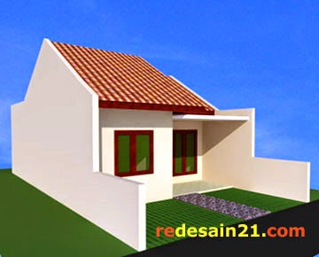 Desain Rumah Type 48 untk luas tanah 72 m2 - sudut kiri