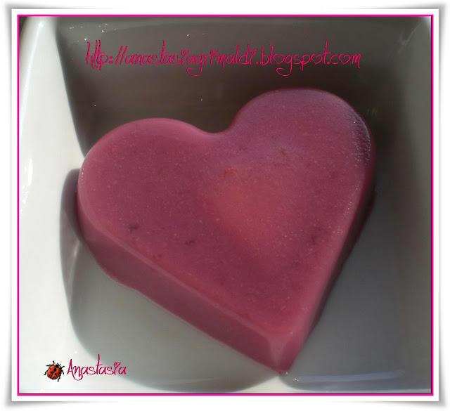 un cuore nel cuore per san valentino... aspic melograno ed ananas