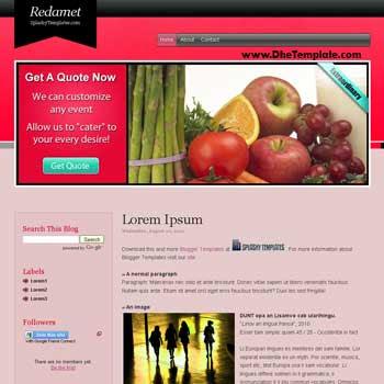 Redamet Blog blogger template. free blogspot template