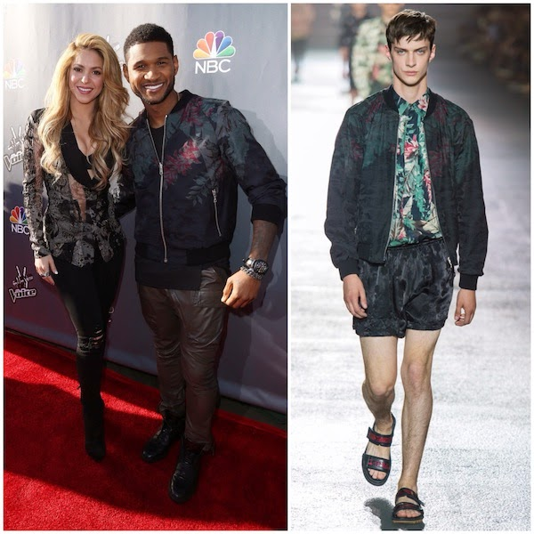 Usher in Dries Van Noten - NBC's 'The Voice' Red Carpet Event