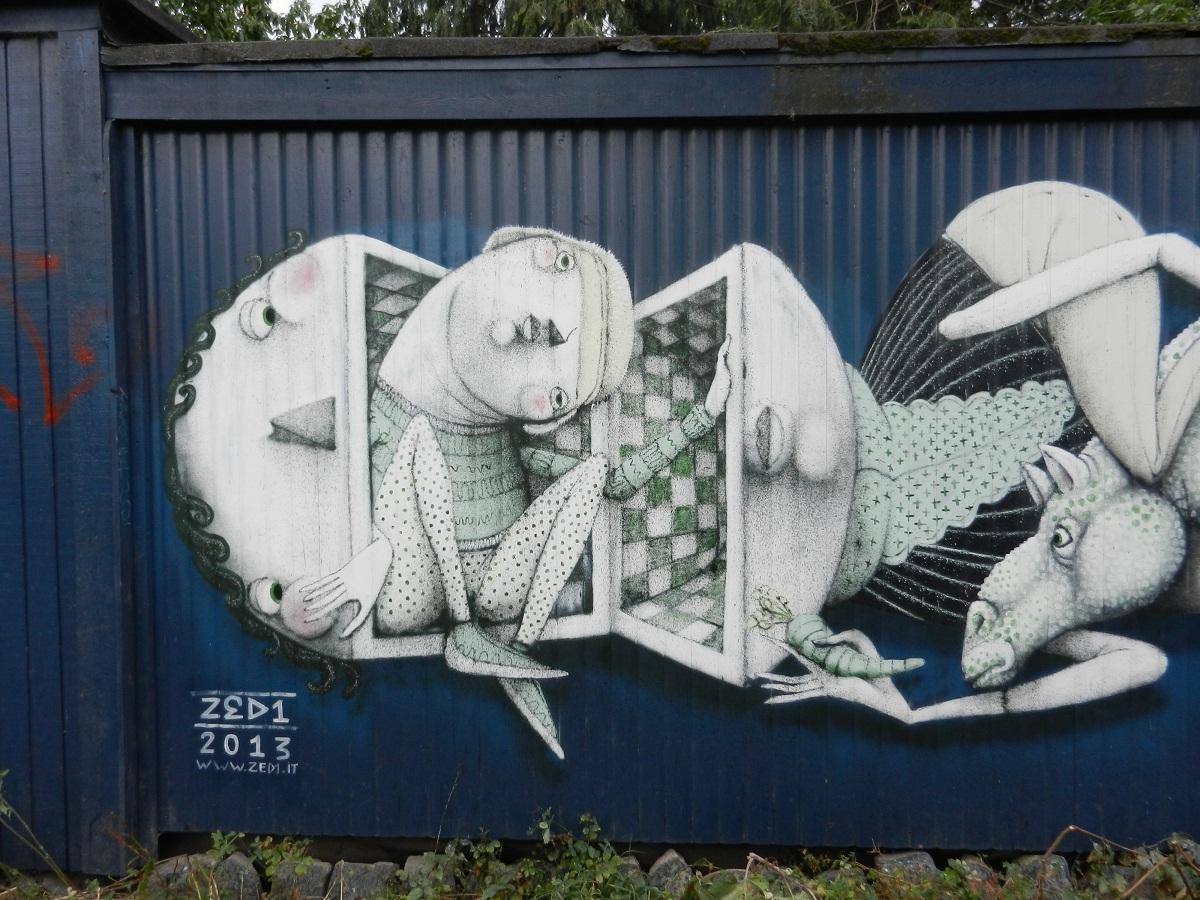 zed1 new murals in copenhagen  denmark