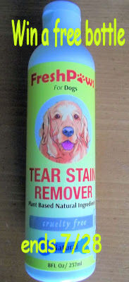 Win a bottle of Fresh Paws Tear Stain Remover