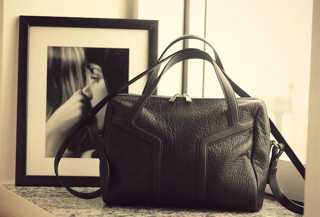 yves saint laurent easy bag, black bag, top handle bag, leather bag, ysl bags