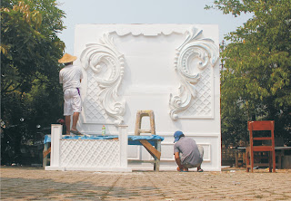 Proses Pembuatan Art Styrofoam