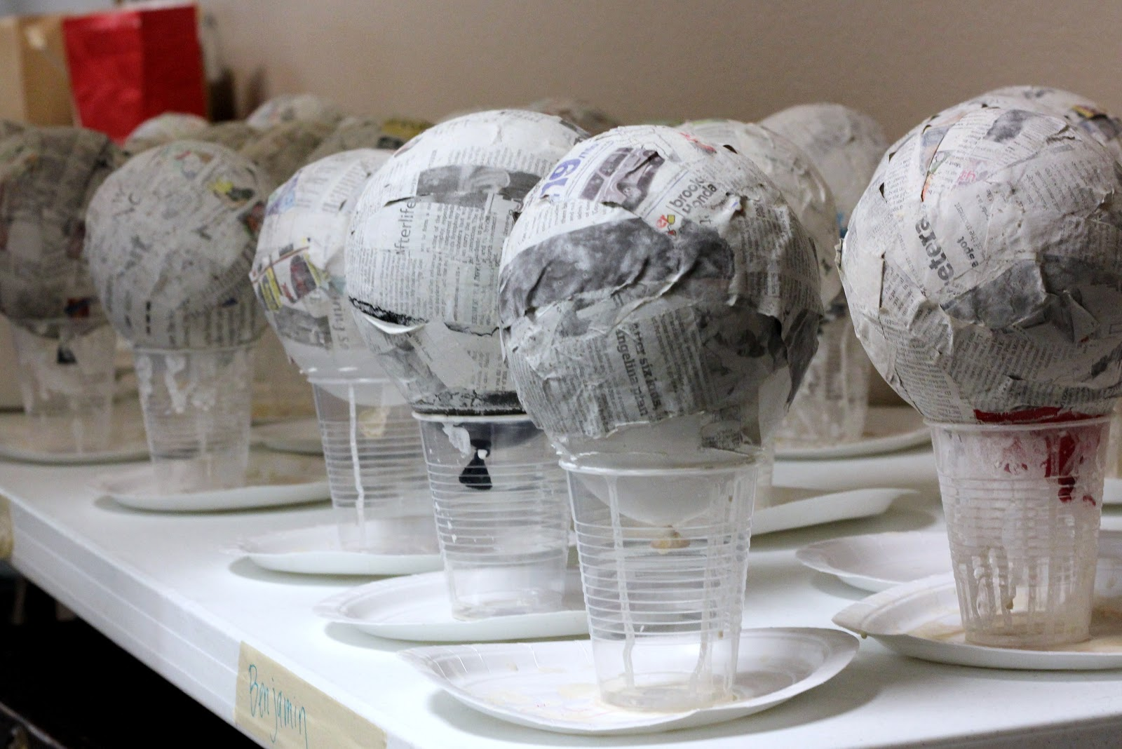 Как сделать попьемоше из бумаги шар