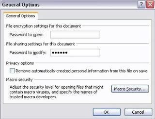 Cara memproteksi Data Microsoft Office