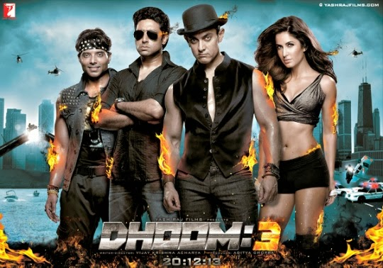 Dhoom 3 wiki Poster, Dhoom 3 (2013) movie star Cast and Crew Aamir Khan And Katrina Kaif, Dhoom 3 Movie Release Date 20 December 2013, Reviews