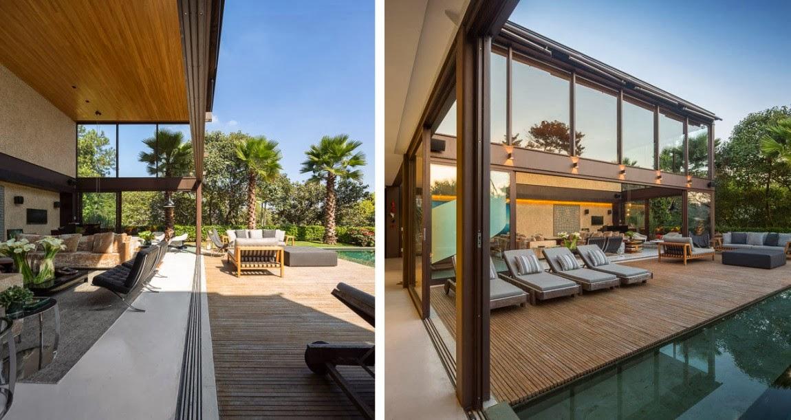 exotische villa garten terrasse einrichtung architetkur fernanda marques