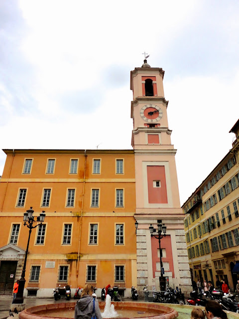 Clock tower in Old Town / Vieux Nice, France