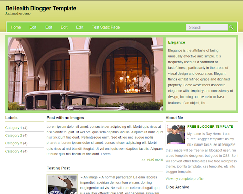 BeHealth Blogger Theme
