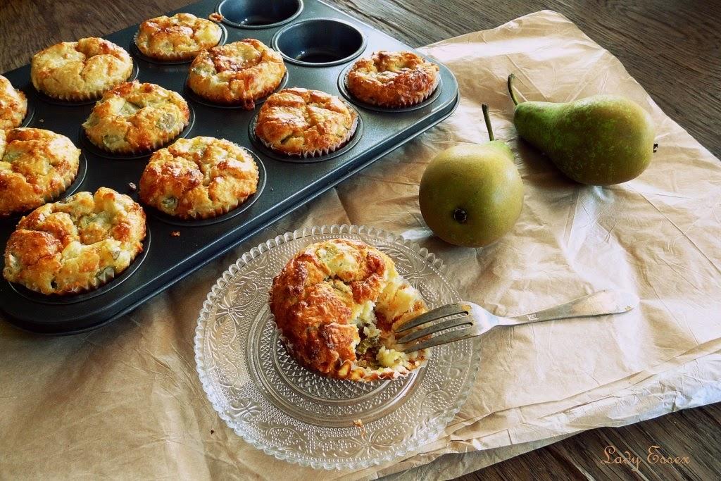 Wytrawne muffiny z gruszkami i gorgonzolą