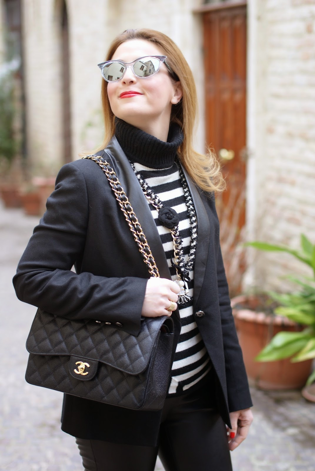 striped turtleneck, Fashion and Cookies, fashion blogger, fashion blog