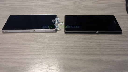 Sony i1 Honami, Xperia Z 比較圖