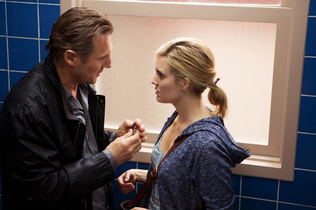 Maggie Grace and Liam Neeson in Taken 3