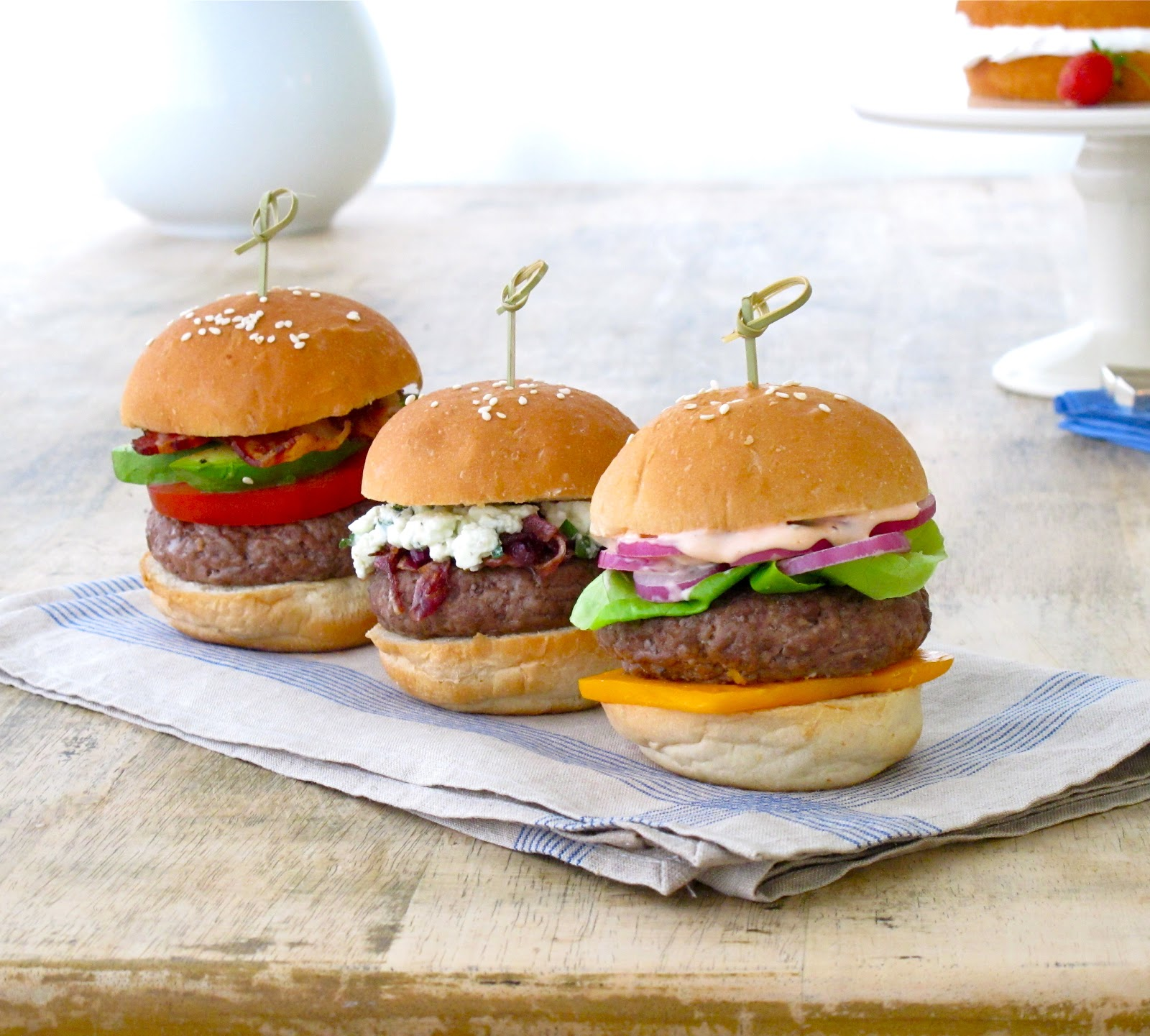 Jenny Steffens Hobick: 4th of July Burgers | Sliders for the Fourth of ...