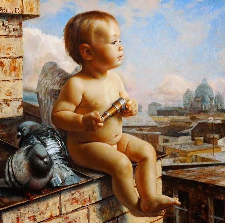 ángeles-al-oleo