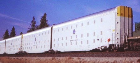 Revelation 20:4. Prisoner Boxcars With Shackles.