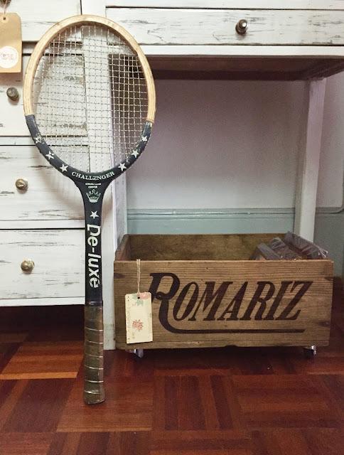 raquete vintage, decoração vintage, arrumação vintage, rústico, shabby chic