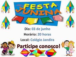 FESTA JUNINA NO COLÉGIO JANDIRA