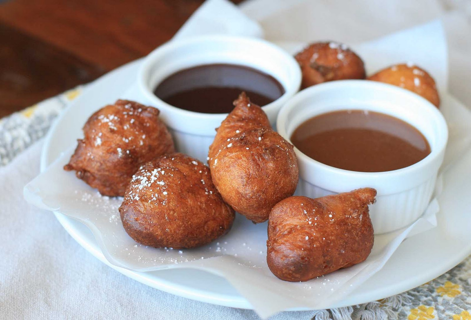 Hanukkah Fritters With Warm Chocolate Sauce Recipes — Dishmaps