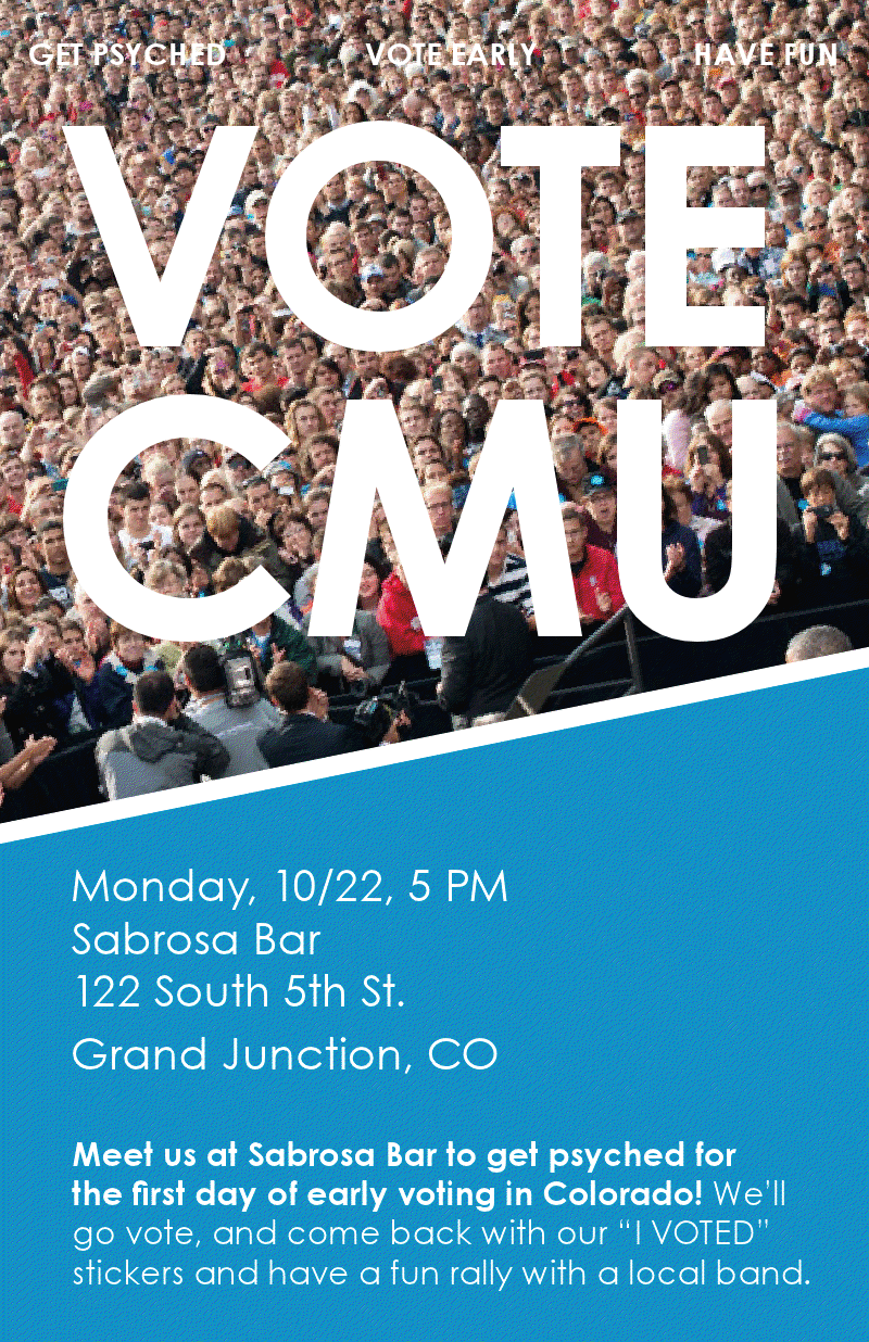 ba art student creates flyers for vote campaign wilkinson ba art student jennie drummond 13 created a couple of half page flyers that were chosen for the get out the vote campaign by ofa and passed around cmu s