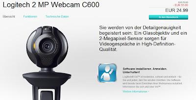 2 MP Webcam Logitech C600 für 24,99 Euro inklusive Versandkosten