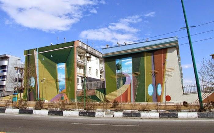 Murales en los edificios de Teheran 25