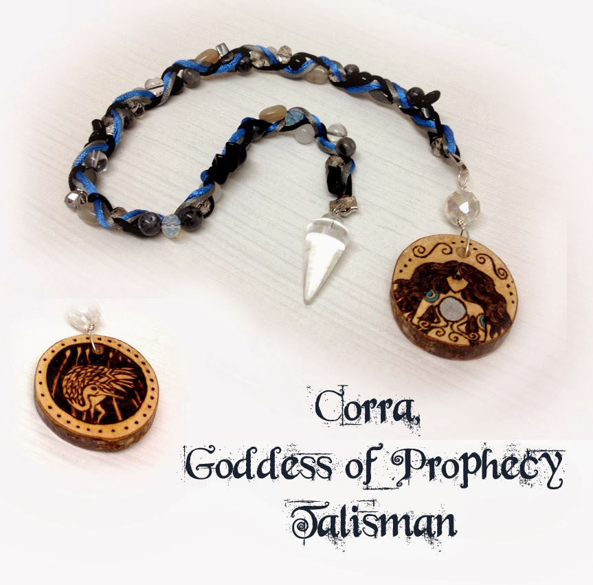 Corra, Scottish Goddess of Prophecy Talisman from MoonsCrafts