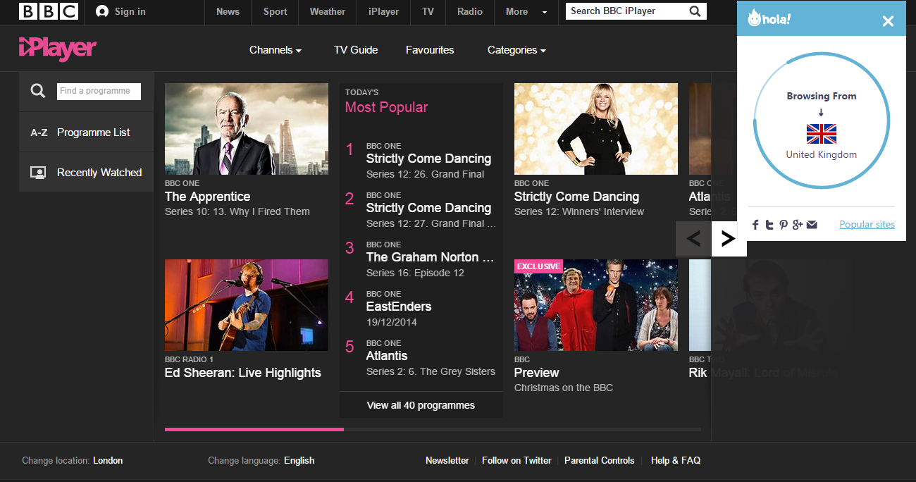 Best Proxy For BBC iPlayer