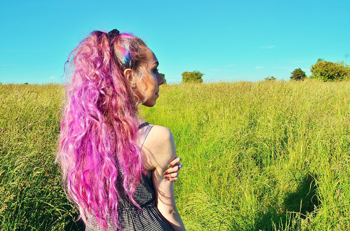 pink purple and blue dyed hair inspo