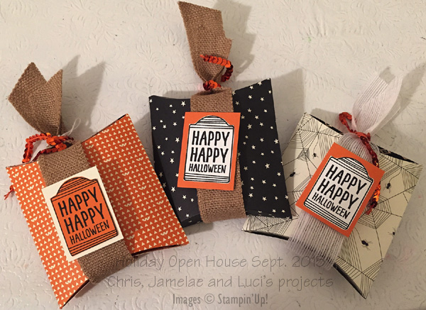 Ideas For Pillow Boxes: Tammie Stamps  Halloween Pillow Boxes,