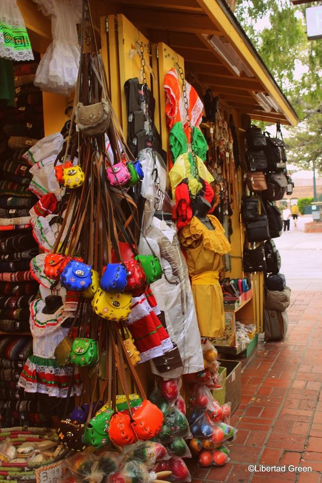 Olvera Street Los Angeles shopping purses