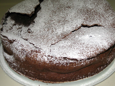Flourless Chocolate Souffle Cake