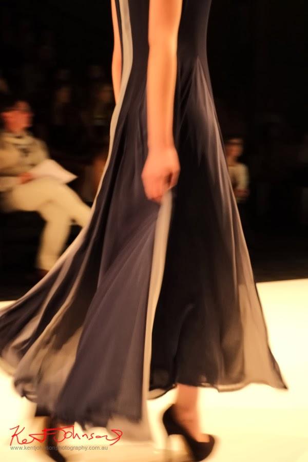 Faradila Sofyan, long flowing dress -  New Byzantium : Raffles Graduate Fashion Parade 2013 - Photography by Kent Johnson.