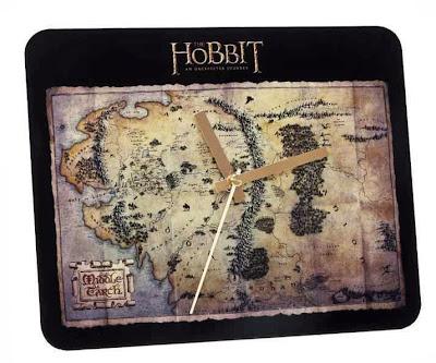 Reloj El Hobbit Mapa de la Tierra Media